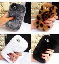 Luxury Winter Top Soft Rabbit Fur Hair Case Cover for iPhone Samsung Moblie
