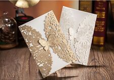 Wedding invitation cards with envelopes, seals, custom personalized printing