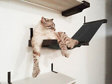 Small Stretched Fabric Raceway Lounger / Cat Wall Shelf