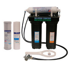 Complete 3-Stage Black Countertop / Undersink Water Filter System, made in USA