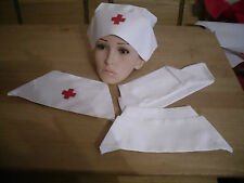 WW1 WW2 NURSE HAT CAP VAD RED CROSS INSPIRED REPLICA FROM MY OWN ORIGINAL HAT