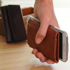 Easy in Hand Mens Leather Wallets Pocket Size Money Clip Credit Card Holder NEW
