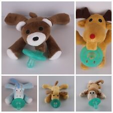 Lovely Plush Toy Cartoon Animal  Baby Silica Gel Soothe Infant Pacifier XLKF0019