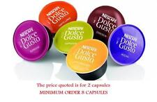 NESCAFE DOLCE GUSTO 2 CAPSULES PODS  (DIFFERENT FLAVORS)