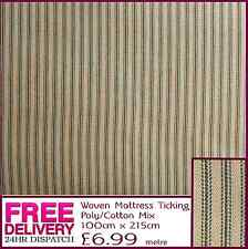 New Polyester Cotton Woven Mattress Ticking Fabric Material Craft Quilting Patch