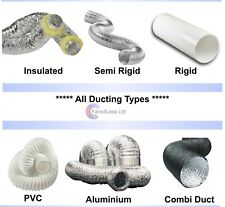 4 5 6 inch 100mm Flexible Aluminium PVC INSULATED COMBI SOLID PLASTIC DUCTING