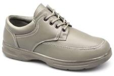 Dr Keller BARRY Mens 4 Eyelet Lace-Up Comfort Padded Wide Fit Casual Shoes Beige