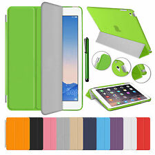Slim Magnetic Leather Smart Cover & Hard Back Case For APPLE iPad Air 2 3 4 Mini