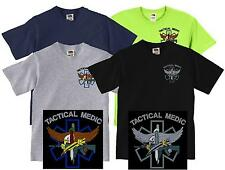 Tactical Medic Tee Shirt Subdued or Color EMS Paramedic Police Rescue