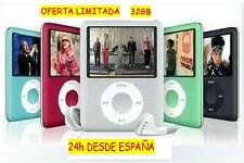 "MP3/MP4/MP5 PLAYER 2"" LCD VIDEO+FOTOS+RADIO FM+EBOOK+GRABADORA DE VOZ 32GB IPOD"