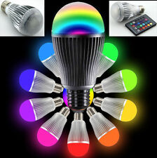 E27 E26 E14 Colorful RGB LED Light Bulb 24 Key Remote Control Aluminum Lamp 220V