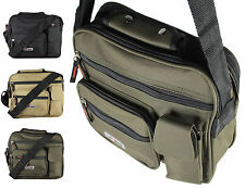 New Twin Top Zip Bag Work Travel Cross Body Shoulder  Mens Ladies Handbag