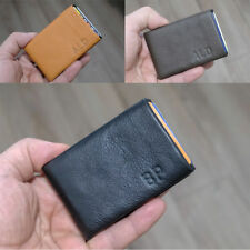 NERO Leather Wallet Card Holder Minimalist Wallet Compact Slim - RFID Blocking