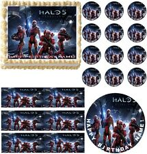 HALO 5 Guardians Video Game Party Edible Cake Topper Frosting Sheet Image! NEW!!