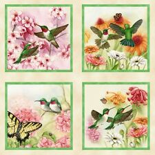 Hummingbirds & Butterflies Cotton Fabric Collection by Elizabeth's Studio!
