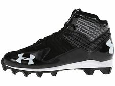 Under Armour Hammer Mid Jr YOUTH Boys' Football Cleats Shoes, 1249796-001 NEW!