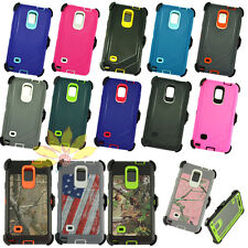 for Samsung Galaxy Note4 defensive soft/Shockproof rugged case cover+belt clip