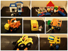 lego duplo police 5602, small farm cement mixer digger tipper forklift recycling