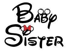Big Little Middle Baby Sister Disney Iron On T Shirt Pillowcase Fabric Transfers
