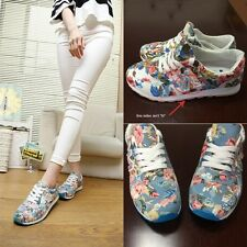 2015NEW Women'S Retro Floral Canvas Sneakers Skateboard Sports Running Gym Shoes