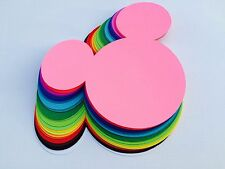 """10 pc Mickey Mouse Head Die-Cuts: 5"""""""