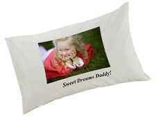 Personalised Photo Pillow Case White Any Image, Any Text, or Image and text