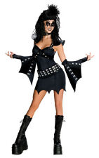 LICENSED ADULT WOMENS THE DEMON KISS ROCK N ROLL FANCY DRESS HALLOWEEN COSTUME