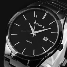 Luxury Black Men Date Stainless Steel Sport Style Military Army Quartz Watch