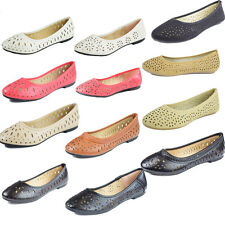 New Women Casual Comfort Slip On Round Toe Ballet Flat Shoes Womens Cute Spring