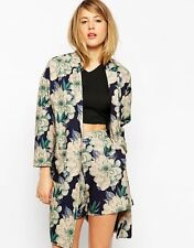 ASOS Womens Duster Jacket in Floral Print RRP £55 Size 4 to 18