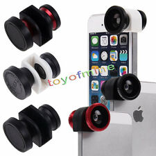 New 3in1 Camera Set Fisheye, Wide Angle, Macro Lens For IPhone 5 5S Hot sales