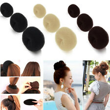 Hairdressing Hair Donut Bun Ring Shaper Styler Maker Brown Black Blonde S/M/L