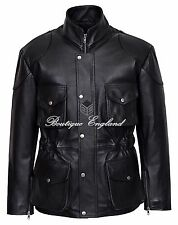 Classic Police Men's 8343 BLACK ANILINE Cowhide Real Leather Zip Jacket