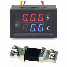 DC 0-50V 500A Digital LED Voltmeter Ammete Voltage Current Panel Meter +Shunt