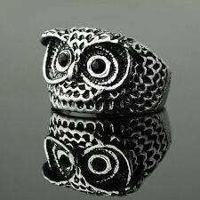 Fashion Vintage Women Girls Retro Style Cute Owl Shape Ring Love Gift 2 Colors
