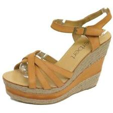 WOMENS TAN HESSIAN SUMMER STRAPPY WEDGE ANKLE SANDALS LADIES HEEL SHOES SIZE 4-8