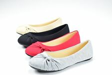 New Women Casual Comfort Slip On Round Toe Ballet Flat Shoes Womens Cute New