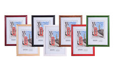 WOODEN PHOTO PICTURE FRAME WOOD FRAMES MANY COLORS FREE P&P ASLO MULTIPACK