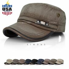 Vintage Army Classic Cadet Military Wached Cap Hat Men Women Summer Baseball