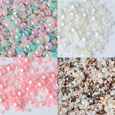Mixed Flat Back Pearls Rhinestones Embellishments Card Making Phone Decoden