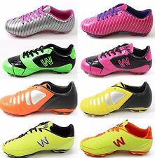 Kids Boys & Girls Outdoor Soccer Shoes Cleats Sizes Toddler 8 to Big Kid 4