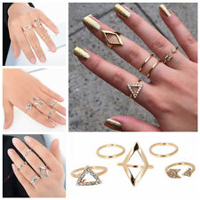 Fashion 5pcs Mid Midi Above Knuckle Ring Band Gold Silver Tip Finger Stacking