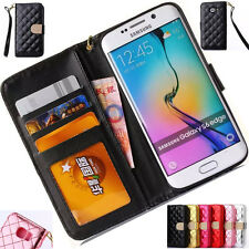 Luxury Leather Flip Wallet Case Card Photo Cover For Samsung Galaxy S6/S6 Edge