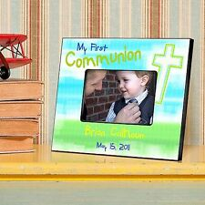 First Communion in 9 Designs | Personalized Picture Frame for 4x6 Photo