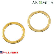 Wholesale Stainless Steel Gold Open Jump Rings Findings Supplies 6mm Dia~1mm