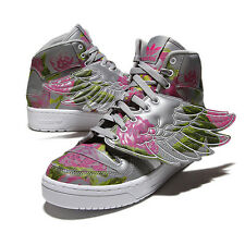 Adidas Originals ObyO JS Jeremy Scott Wings Floral B26023 Rose Grey Unisex Shoes