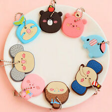 Stylish Korea Cute Animal Soft Key Top Head Cover Chain Cap Keyring Phone Strap