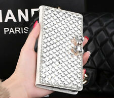 Luxury Wallet Bling Rhinestone Leather Flip Case Cover For Iphone 6/6 PLUS