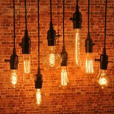 1/2/5/10pc Pendant Lamp Wire Vintage Industrial Edison Hanging Light Chandeliers