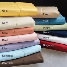 1100 TC Series Ultra Soft 100% EGYPTIAN COTTON 4 PCs SHEET SET SIZE COLOR OPTION